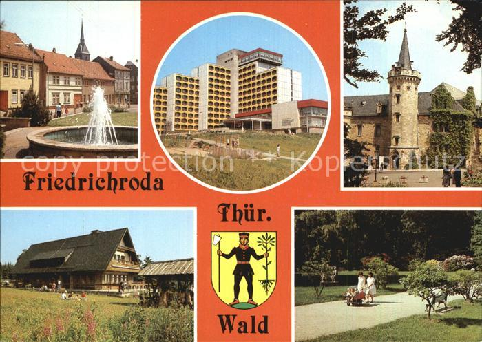AK / Ansichtskarte Friedrichroda Platz der Jungen Pioniere FDGB Erholungsheim Schloss Reinhardsbrunn Heuberghaus Rennsteig Puschkin Park Kat. Friedrichroda