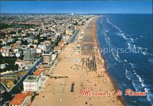 AK / Ansichtskarte Miramare di Rimini  Spiaggia vista dall aereo Riviera Adriatica Fliegeraufnahme Kat. Rimini