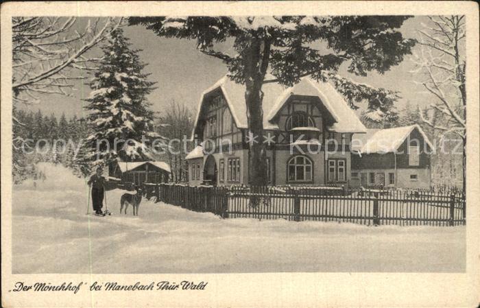 AK / Ansichtskarte Manebach Moenchhof Thueringer Wald im Winter Kat. Ilmenau