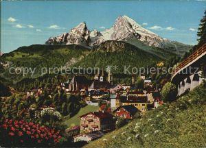AK / Ansichtskarte Berchtesgaden Ortsansicht mit Watzmann Berchtesgadener Alpen Kat. Berchtesgaden