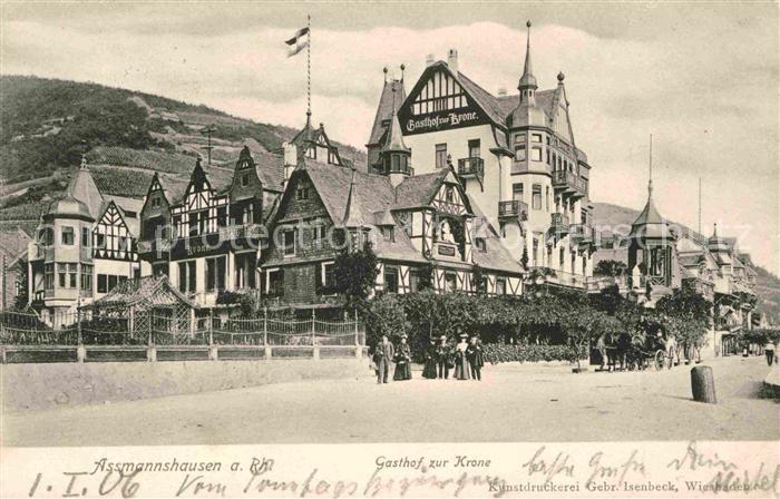 AK / Ansichtskarte Assmannshausen Gasthof zur Krone