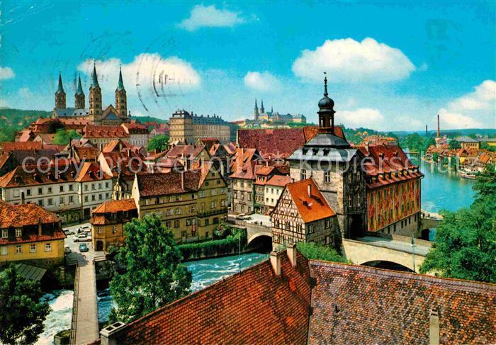 AK / Ansichtskarte Bamberg Blick auf die Altstadt Kat. Bamberg