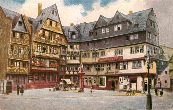 AK / Ansichtskarte Kuenstlerkarte B. Liebig Frankfurt am Main Rosen Eck Grosse Fischergasse  Kat. Kuenstlerkarte