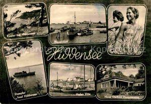 AK / Ansichtskarte Insel Hiddensee Kloster Neuendorf Hafen Badenixen Haus Gerhart Hauptmanns Vitte Dampfer Kat. Insel Hiddensee