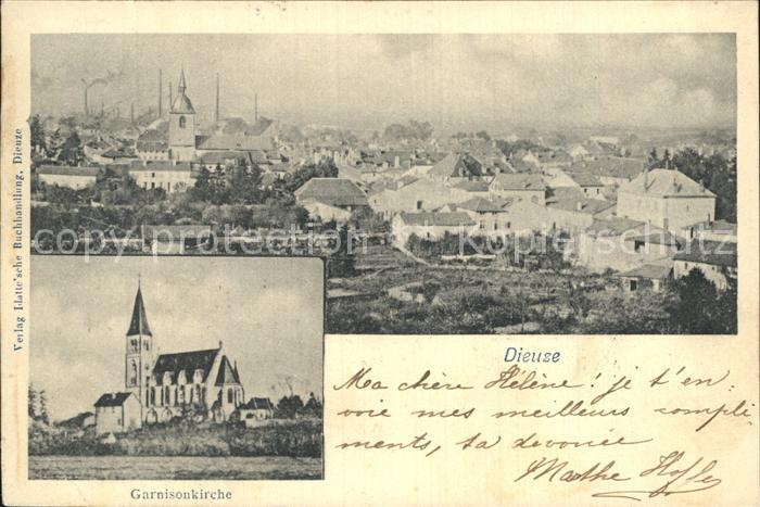 AK / Ansichtskarte Dieuze Garnisonskirche Kat. Dieuze