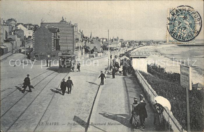 AK / Ansichtskarte Havre Le Boulevard Strand Kat. Le Havre