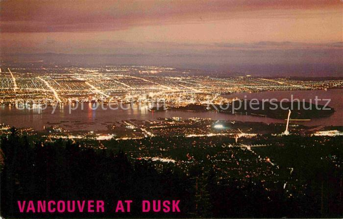 AK / Ansichtskarte Vancouver British Columbia Night view at dusk from Top of Grouse Kat. Vancouver