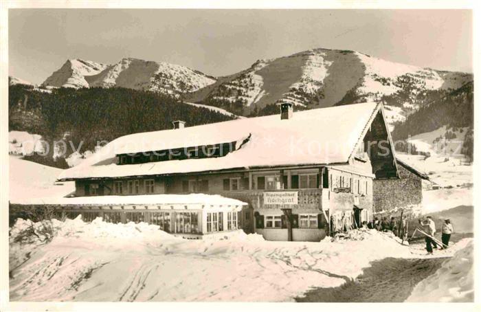 AK / Ansichtskarte Steibis Alpengasthof Hochgrat Winterpanorama Rindalphorn Allgaeuer Alpen Kat. Oberstaufen