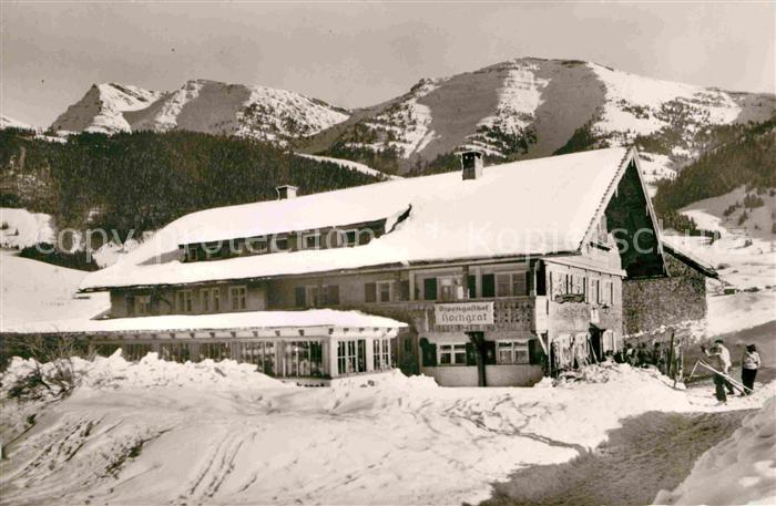 AK / Ansichtskarte Steibis Alpengasthof Hochgrat Rindalphorn Winterpanorama Allgaeuer Alpen Kat. Oberstaufen