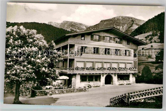 AK / Ansichtskarte Steibis Alpengasthof Hochgrat Kastanienbaum Allgaeuer Alpen Kat. Oberstaufen