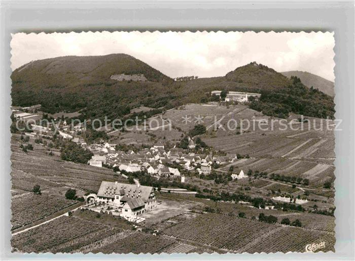 AK / Ansichtskarte Leinsweiler Hotel Leinsweiler Hof Blick auf Neukastell Fliegeraufnahme Kat. Leinsweiler