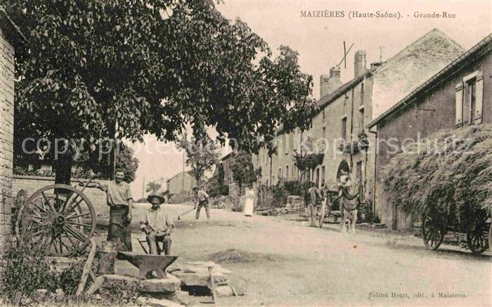 AK / Ansichtskarte Maizieres Haute Saone Grande Rue Kat. Maizieres