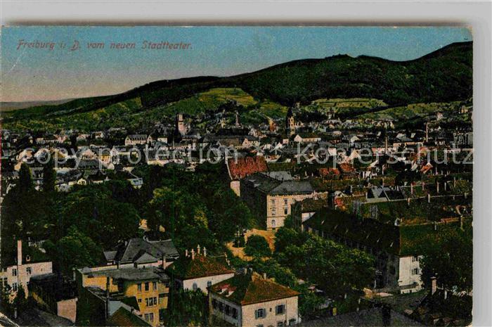 AK / Ansichtskarte Freiburg Breisgau Blick auf die Stadt vom Stadttheater Kat. Freiburg im Breisgau