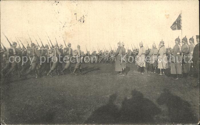 AK / Ansichtskarte Regiment RIR 201 Reserve Infanterie Vorbeimarsch WK1