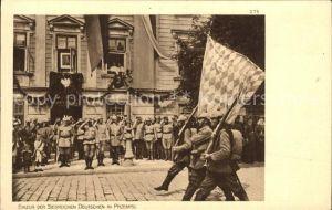 AK / Ansichtskarte Militaria WK1 Einzug der Siegreichen deutschen in Przemysl  Kat. WK1