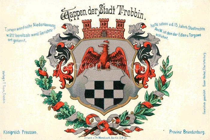 AK / Ansichtskarte Trebbin Stadt Wappen Kat. Trebbin