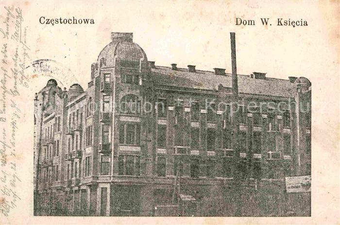 AK / Ansichtskarte Czestochowa Schlesien Dom W. Ksiecia Kat. Tschenstochau
