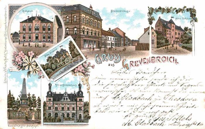 AK / Ansichtskarte Grevenbroich Breitestrasse Rathaus Kreisstaendehaus  Kat. Grevenbroich