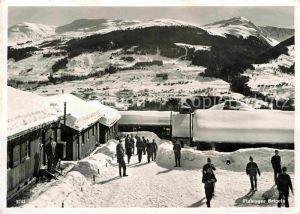 AK / Ansichtskarte Brigels Flablager im Winter Soldaten Kat. Brigels Breil