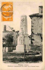 AK / Ansichtskarte Pressac Monument Commemoratif des Morts de la Grande Guerre  Kat. Pressac
