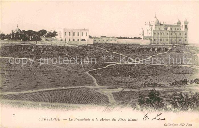 AK / Ansichtskarte Carthage Karthago Primatiale Maison Peres Blanes Kat. Tunis