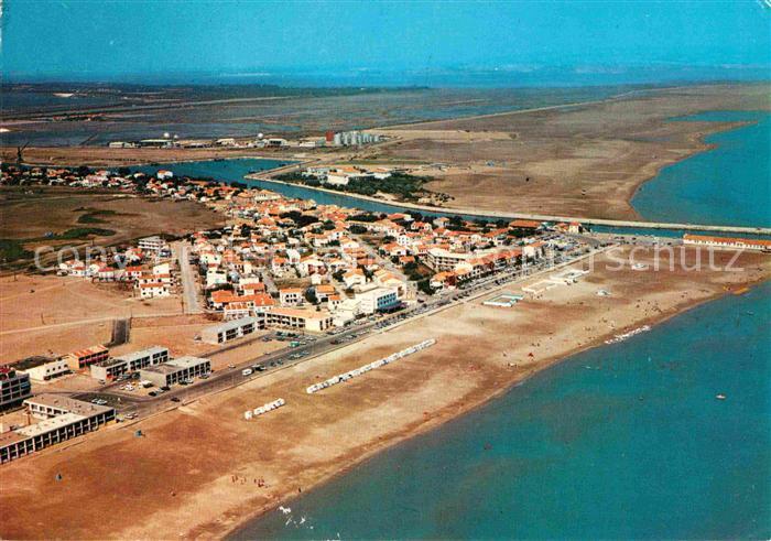 AK / Ansichtskarte Port la Nouvelle Plage Canal Fliegeraufnahme Kat. Port la Nouvelle