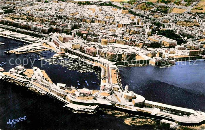 AK / Ansichtskarte Alger Algerien Fliegeraufnahme Hafen