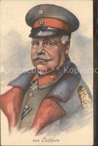 AK / Ansichtskarte Militaria Generaele Stab Deutschland  von Eichhorn preussischer Offizier, zuletzt Generalfeldmarschall im Ersten Weltkrieg. WK 1 / Militaria /