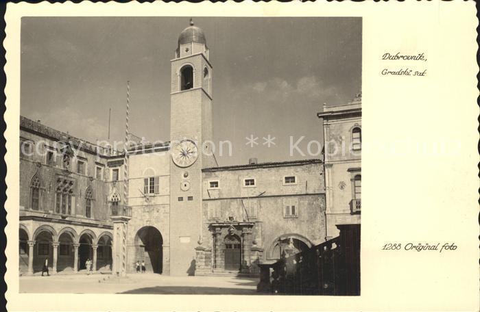 AK / Ansichtskarte Dubrovnik Ragusa Gradski sat Glockenturm Kat. Dubrovnik