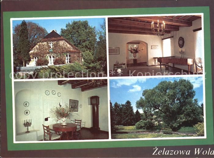 AK / Ansichtskarte Zelazowa Wola Dworek Fryderyk Chopin Geburtshaus Komponist Frederic Chopin Park Kat. Sochaczew