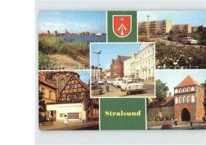 AK / Ansichtskarte Stralsund Mecklenburg Vorpommern Hafen Leninplatz Friedrich Wolf Strasse Museum Kniepertor Kat. Stralsund
