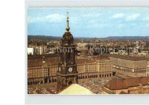 AK / Ansichtskarte Dresden Blick vom Rathausturm zum Altmarkt und Zwinger Kat. Dresden Elbe