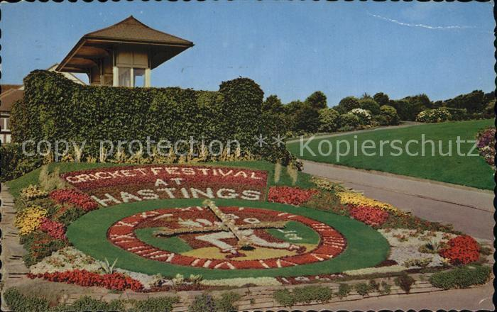 AK / Ansichtskarte Hastings East Sussex Floral Clock White Rock Gardens Kat. Hastings