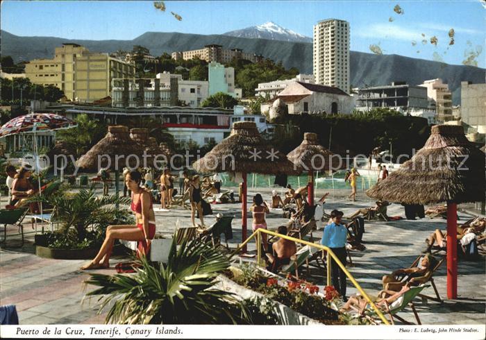 AK / Ansichtskarte Puerto de la Cruz Hotelanlage Swimming Pool El Teide Vulkan Kat. Puerto de la Cruz Tenerife