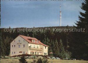 AK / Ansichtskarte Bischofsgruen Pension Restaurationsbetrieb Hoyer Baude Fichtelgebirge Sender Kat. Bischofsgruen