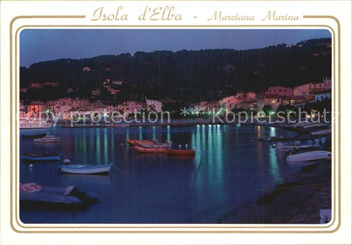 AK / Ansichtskarte Marciana Marina Lungomare Strandpromenade Nachtaufnahme