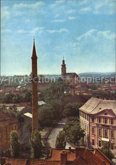 AK / Ansichtskarte Eger Erlau Ansicht mit Minarett und Kirche Kat. Eger