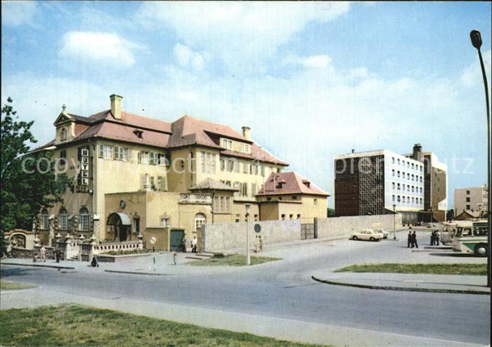 AK / Ansichtskarte Eger Erlau A Park es az Eger Szallo Hotel Park und Eger Kat. Eger