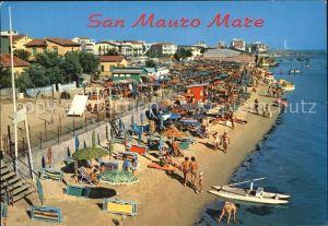 AK / Ansichtskarte San Mauro Mare Panorama della spiaggia Strand Kat. Rimini