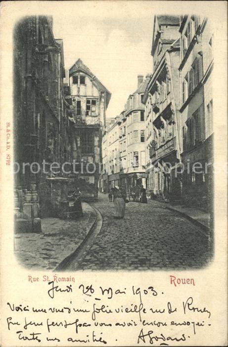 AK / Ansichtskarte Rouen Rue Saint Romain Kat. Rouen