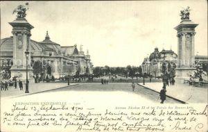 AK / Ansichtskarte Paris Exposition Universelle Avenue Nicolas II et les Palais des Beaux Arts Kat. Paris