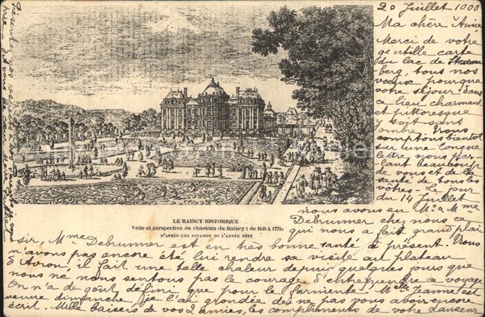 AK / Ansichtskarte Le Raincy La Ville Historique Chateau d apres une estampe de l annee 1655 Kat. Le Raincy