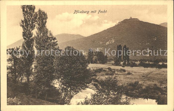 AK / Ansichtskarte Wintzenheim Colmar Pflixburg mit Fecht Chateau du Pflixbourg Kat. Wintzenheim