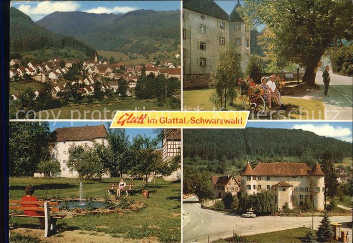 AK / Ansichtskarte Glatt Panorama Glatttal Schwarzwald Gasthof Pension Kaiser Park Schloss Kat. Sulz am Neckar