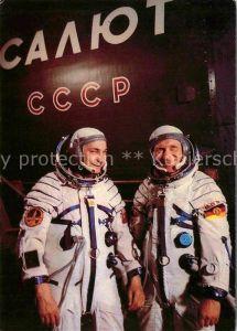 AK / Ansichtskarte Raumfahrt Kosmonauten Waleri Bykowski Sigmund Jaehn  Kat. Flug