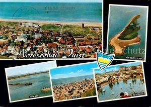 AK / Ansichtskarte Juist Nordseebad Anleger Strand Spielteich Fliegeraufnahme Kat. Juist
