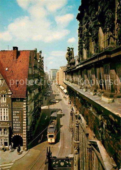 AK / Ansichtskarte Bremen Obernstrasse Strassenbahn Kat. Bremen