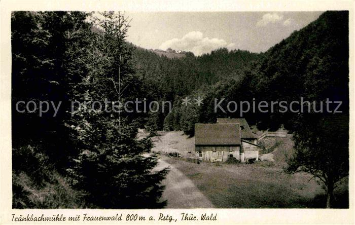 AK / Ansichtskarte Frauenwald Thueringen Traenkbachmuehle Kat. Frauenwald