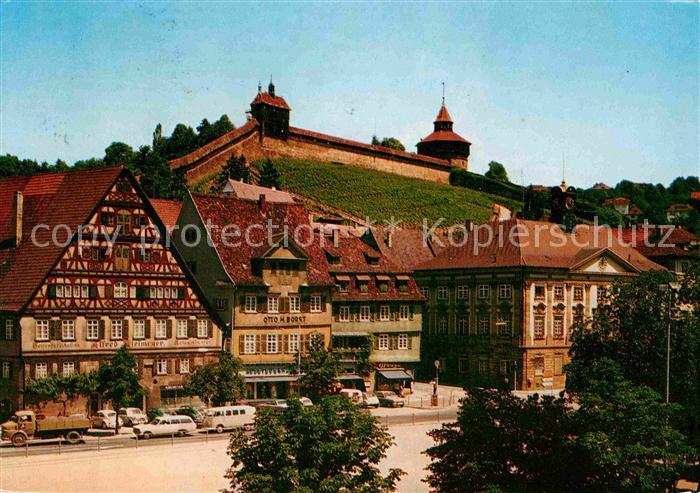 AK / Ansichtskarte Esslingen Neckar Marktplatz mit Burg Kat. Esslingen am Neckar