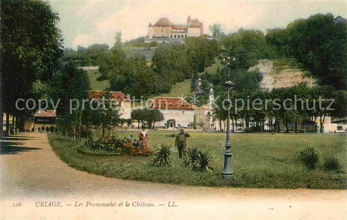 AK / Ansichtskarte Uriage les Bains Isere Promenades et le Chateau  Kat. Vaulnaveys le Haut